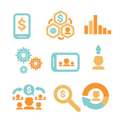 Business economic infographics icons set statistic vector