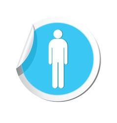 Man blue label vector