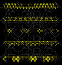 Metal ornaments with imitation of lattice and vector