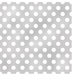 seamless polka dots grey pattern vector image vector image