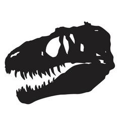 skull dinosaur vector image