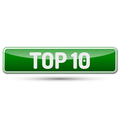 top 10 - abstract beautiful button with text vector image
