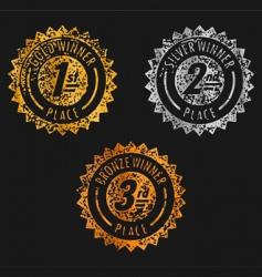 vintage medal vector image