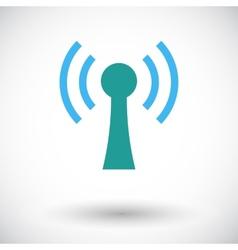 Wireless single flat icon vector image vector image
