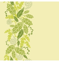 Green Leaves Vertical Seamless Pattern Background vector image vector image
