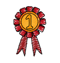 Number one ribbon design vector
