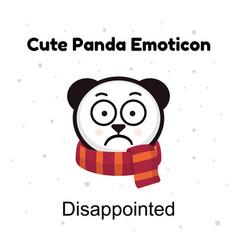 panda sad emoji chinese bear sadness or vector image