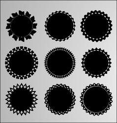 Set of 9 labels vector image