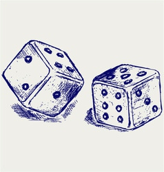 Two dices vector image vector image