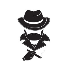 A stranger in a hat holds a cigarette in his hand vector