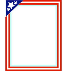 american decorative frame vector image