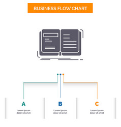 Author book open story storytelling business flow vector