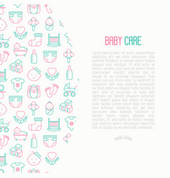 bacare concept with thin line icons vector image