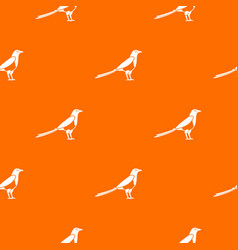 Bird magpie pattern seamless vector