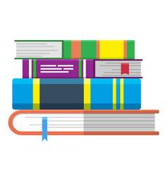 Books pile online education symbol textbooks vector
