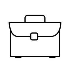 Briefcase bussiness accessory vector
