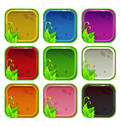 Cartoon colorful app icon frames set vector