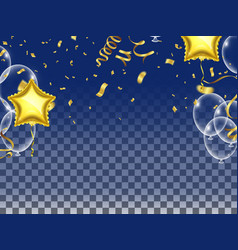 Celebrate balloons and star balloons holiday vector