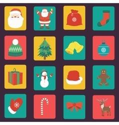 Christmas Icons set Flat design vector image