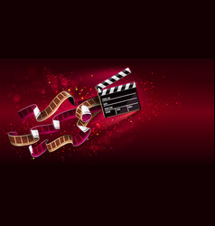 Cinema producers clapperboard vector