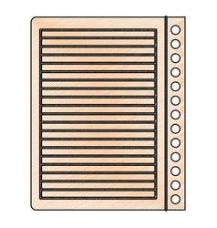 Color crayon stripe silhouette of notebook sheet vector