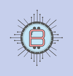 color icon bitcoin money currency vector image