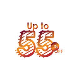 Discount up to 55 off label sale line gradient vector