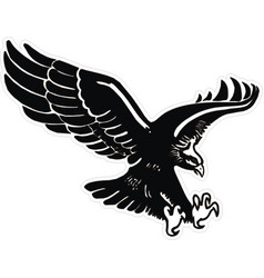 Eagle with wings and claws vector