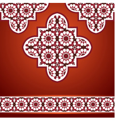 Eastern mosaic background in red vector