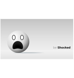 emotional background with shocked pale face emoji vector image