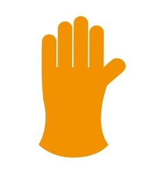 farmer glove isolated icon design vector image