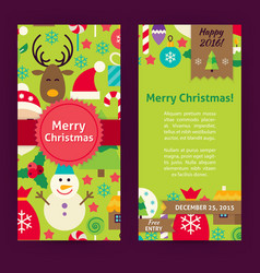 Flyer Template of Merry Christmas Objects and vector