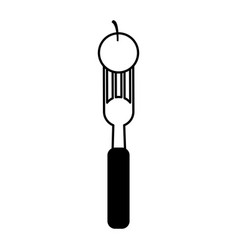 fork with food icon image vector image