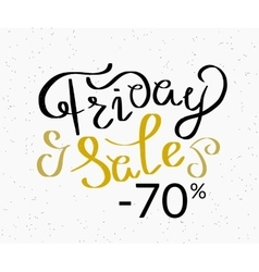 Friday sale hand made script design template vector