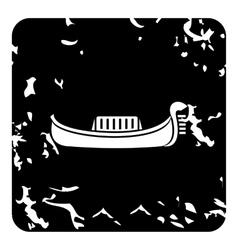 Gondola icon grunge style vector