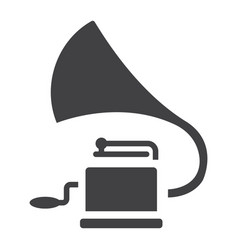 gramophone glyph icon music and instrument vector image
