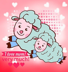 Greeting card design for Mothers Day vector image