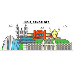 india bangalore hinduism city skyline vector image