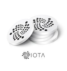 Iota cryptocurrency tokens vector