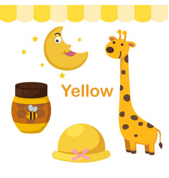 Isolated color yellow group vector