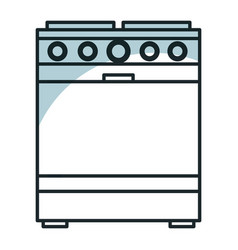 kitchen oven isolated icon vector image