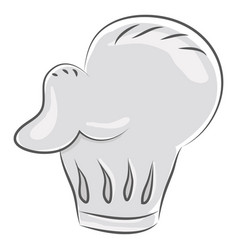 large white chefs hat or color vector image