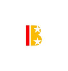 letter b with star light symbol logo vector image