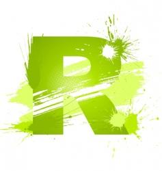 Letter R background vector image