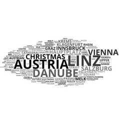 Linz word cloud concept vector