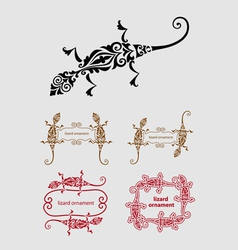 Lizard ornament decoration vector image
