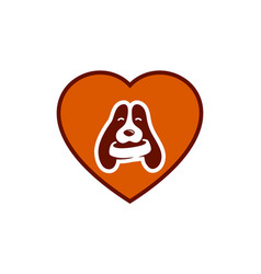 love pets dog logo icon vector image