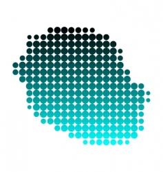map of la reunion vector image vector image