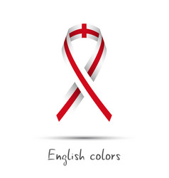 Modern colored awareness ribbon with the english vector