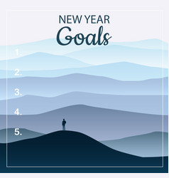 New years resolution goals in the new year men vector